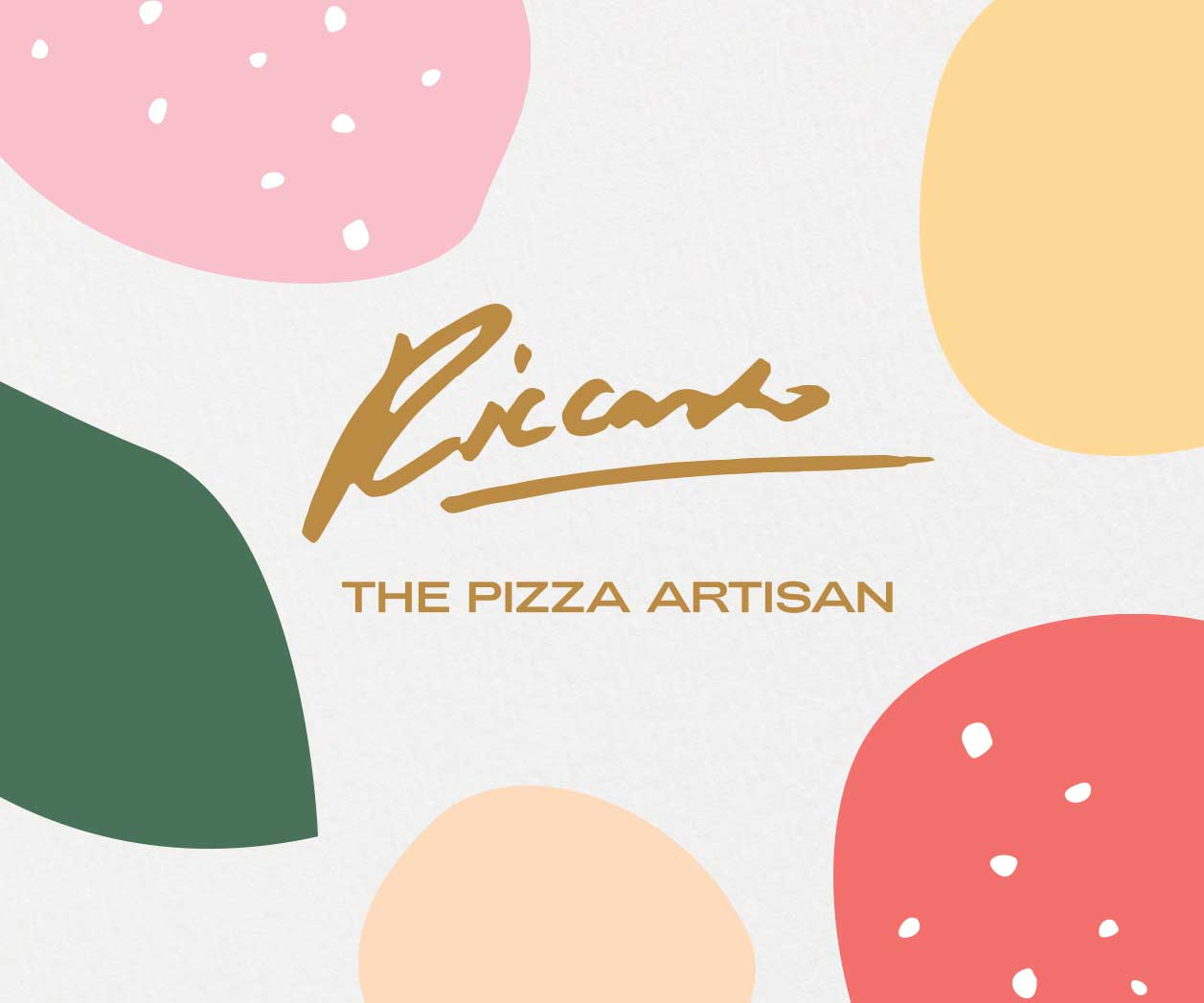 Branding Design project including Brand Naming and Packaging Design for FMCG food product retail brand Riccardo Pizza in Sydney Australia, thumbnail image