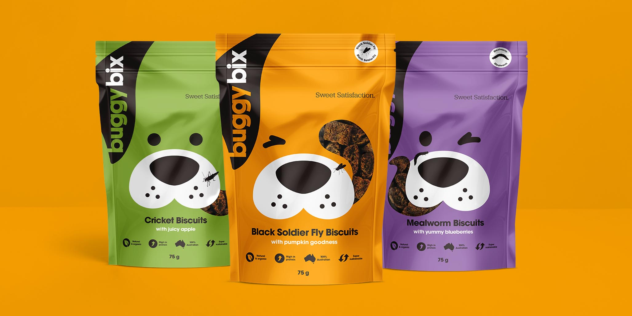 Creative Packaging Design project for pet care products brand Buggy Bix, Sydney, Australia, image F