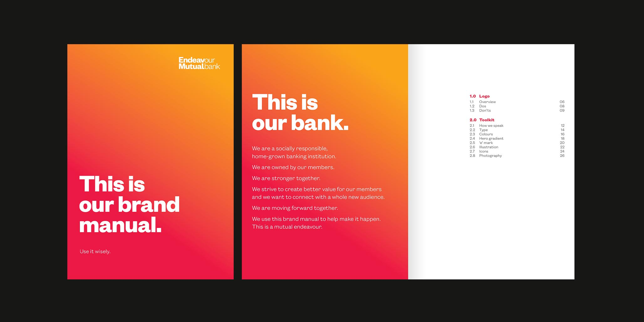 Rebranding, Brand Identity Design & Roll-out project for financial services company, Endeavour Mutual Bank, Sydney, Australia, image E