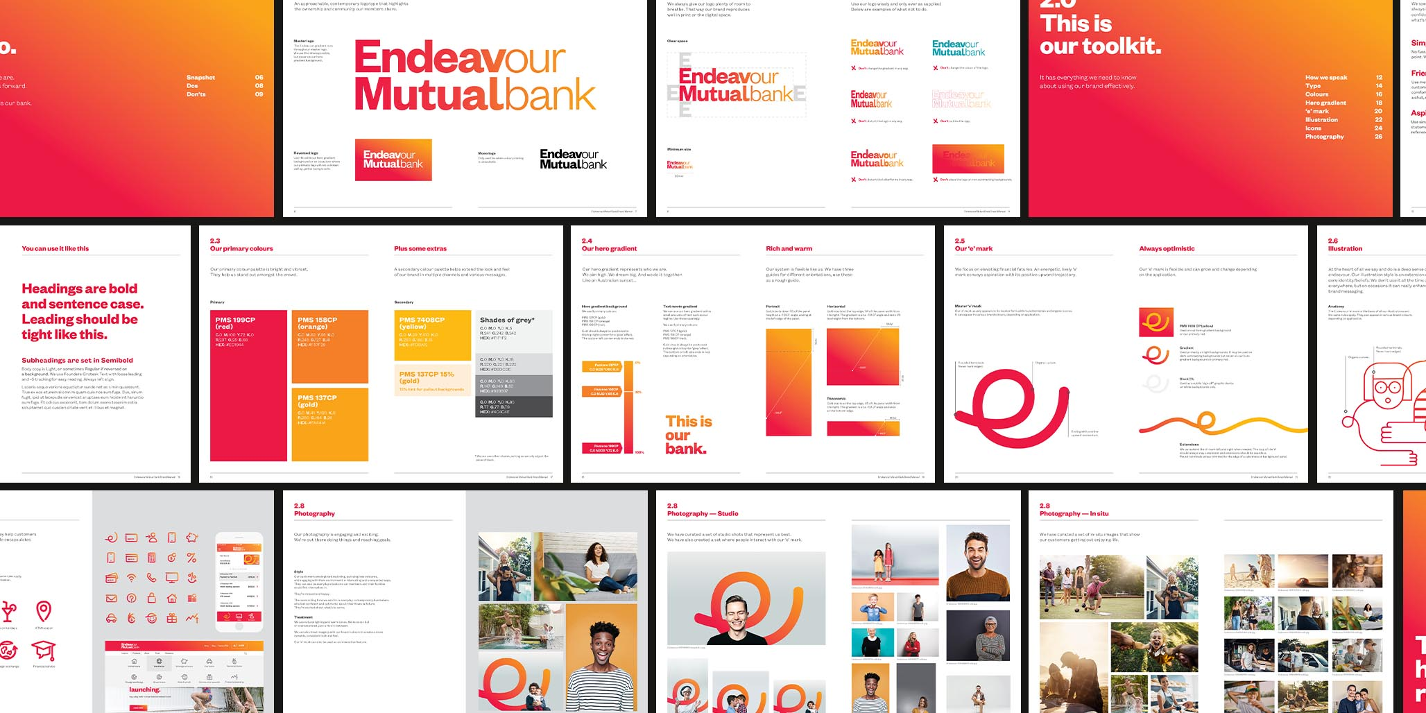 Rebranding, Brand Identity Design & Roll-out project for financial services company, Endeavour Mutual Bank, Sydney, Australia, image F