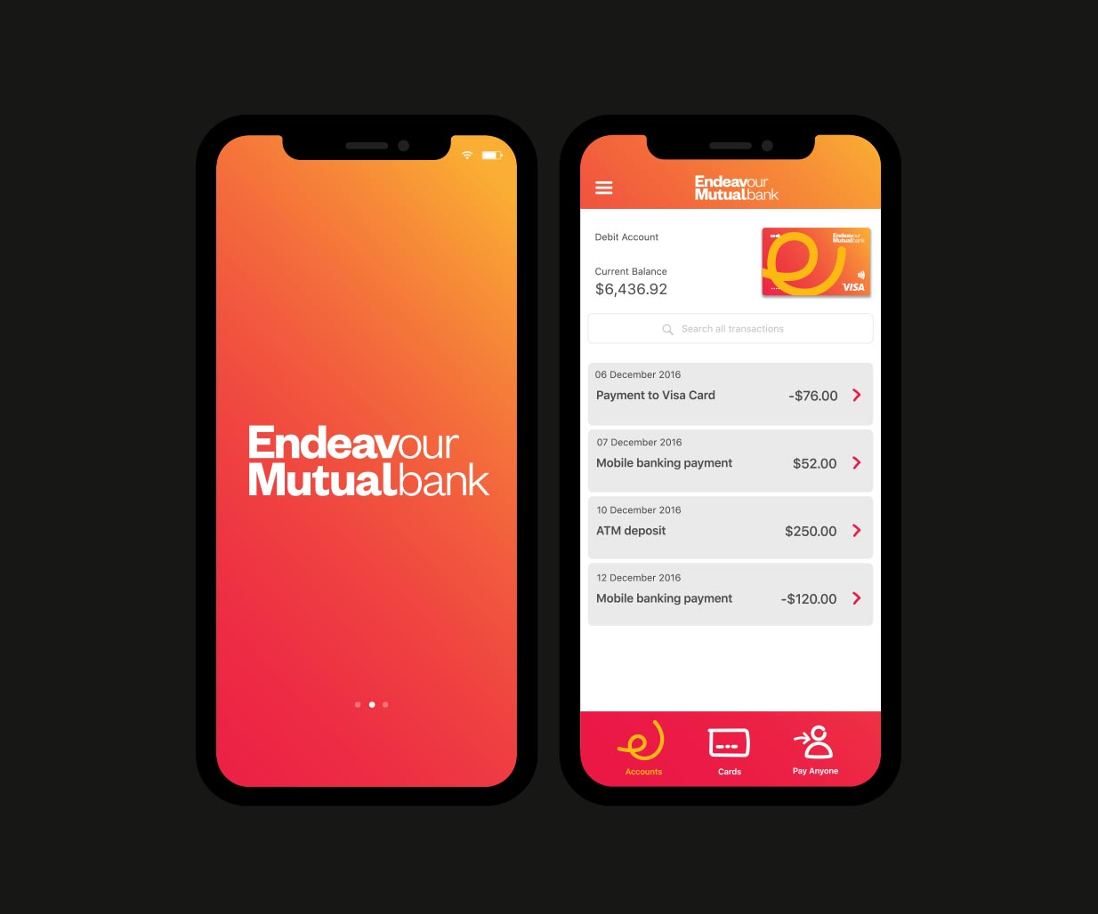 Rebranding, Brand Identity Design & Roll-out project for financial services company, Endeavour Mutual Bank, Sydney, Australia, image N
