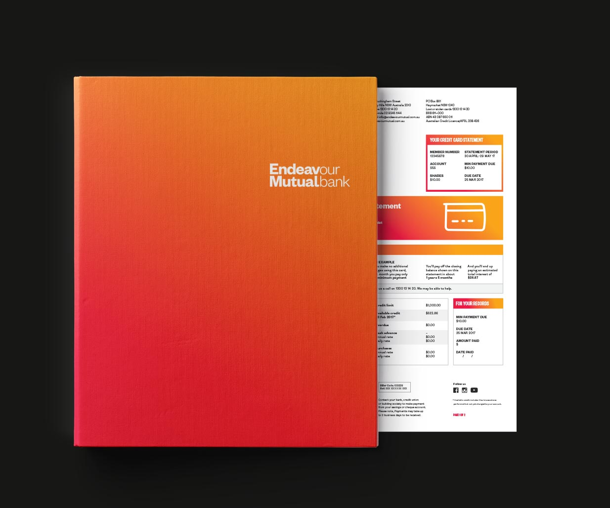 Rebranding, Brand Identity Design & Roll-out project for financial services company, Endeavour Mutual Bank, Sydney, Australia, image P