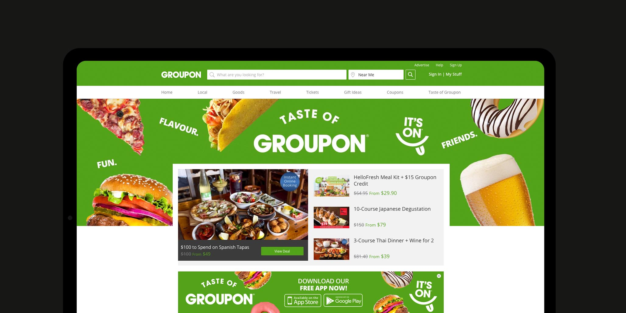 Digital Campaign, Creative Copywriting, Web Banners & Ad Design project in Sydney Australia for global online business brand Groupon, image C