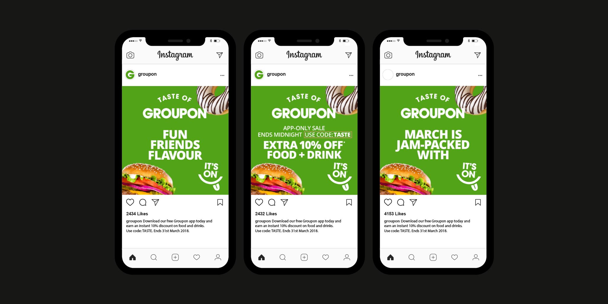 Digital Campaign, Creative Copywriting, Web Banners & Ad Design project in Sydney Australia for global online business brand Groupon, image D