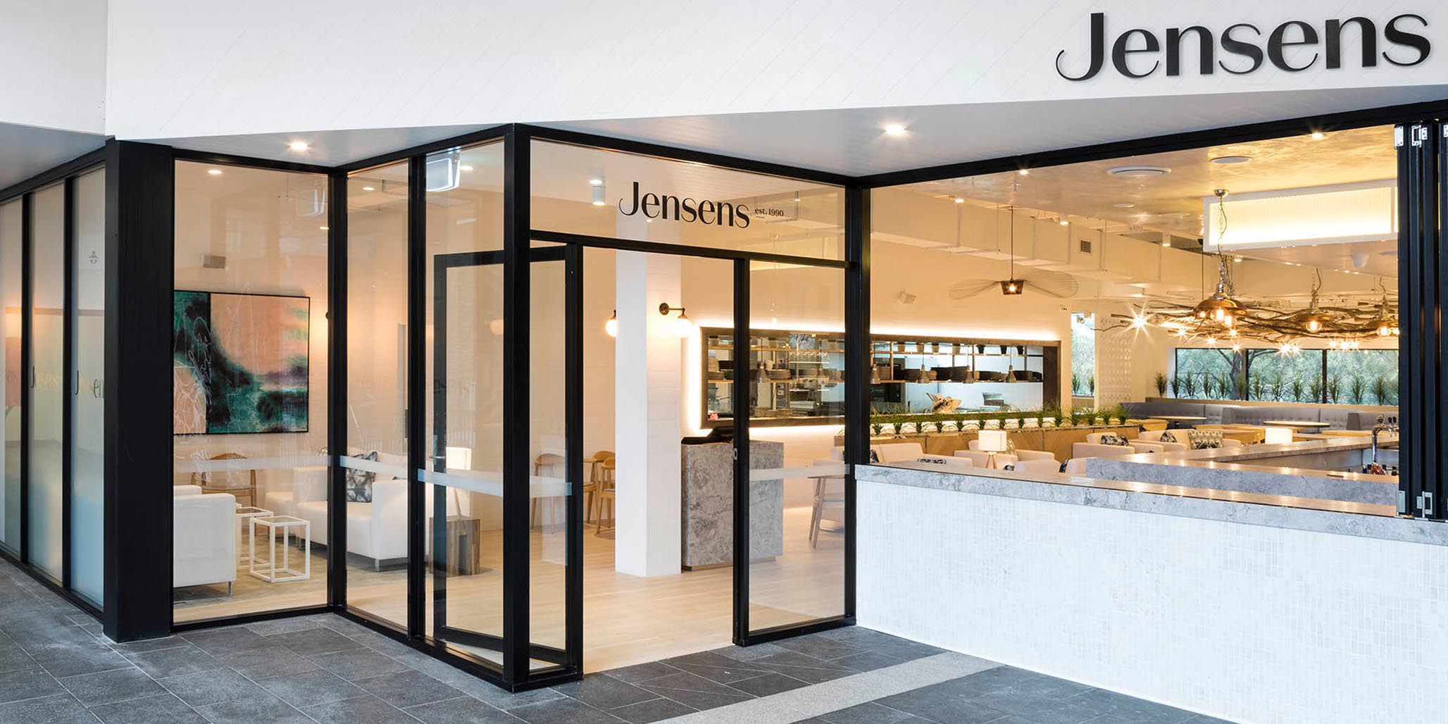 Brand & Website Design project in Sydney for hospitality venue Jensens Restaurant, a leader in the food service industry of Australia, image A