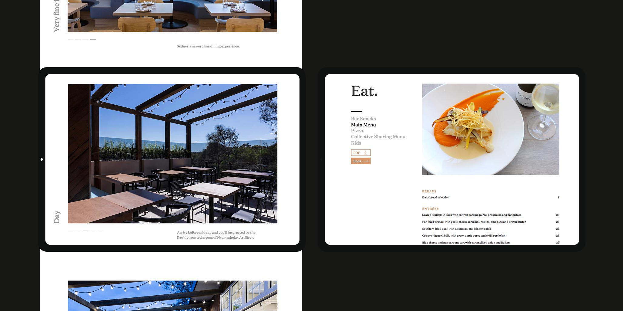 Brand & Website Design project in Sydney for hospitality venue Jensens Restaurant, a leader in the food service industry of Australia, image D