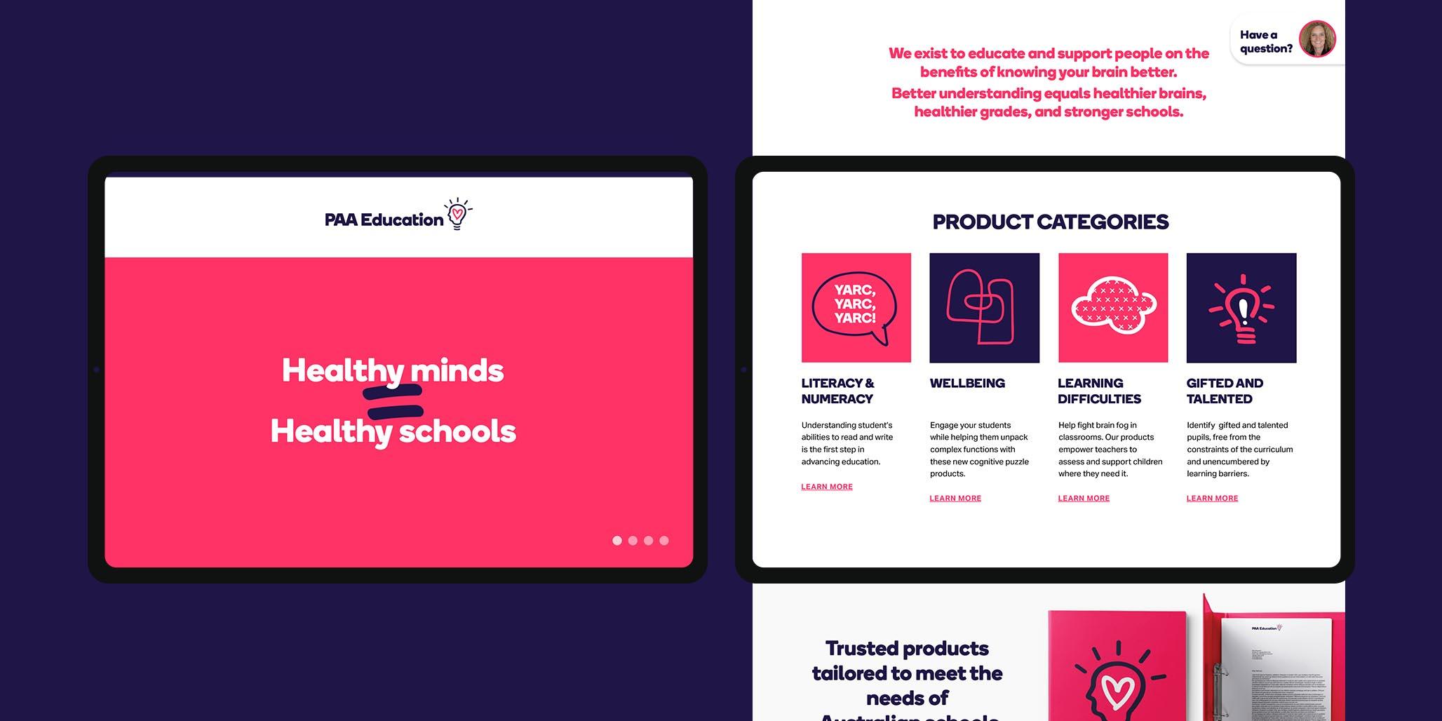 Branding Services & Website Design project for PAA Education, Sydney, Australia, image landscape J