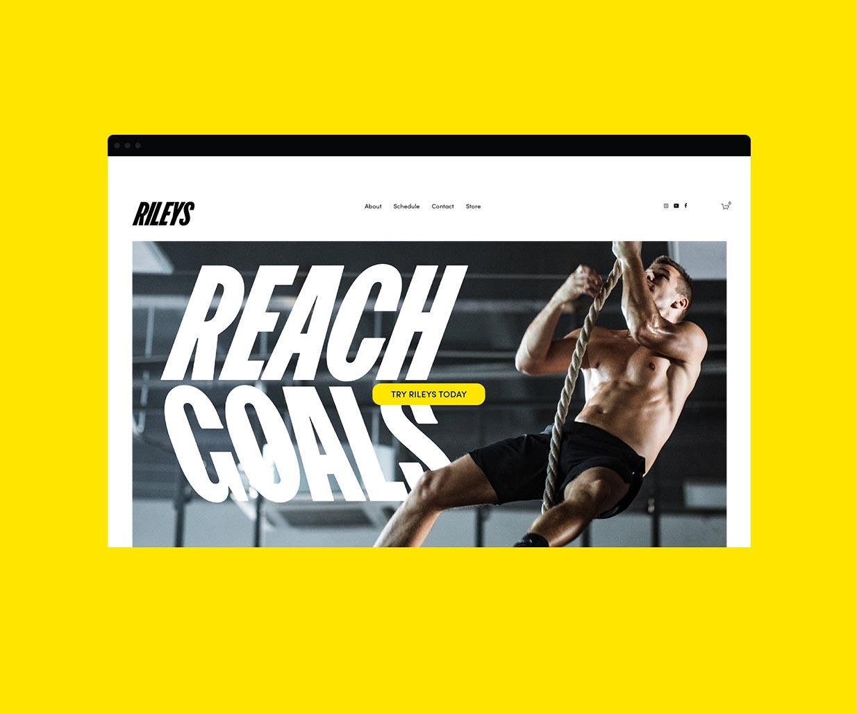 Brand identity design for Rileys Gym by Australian branding agency, Percept, image H