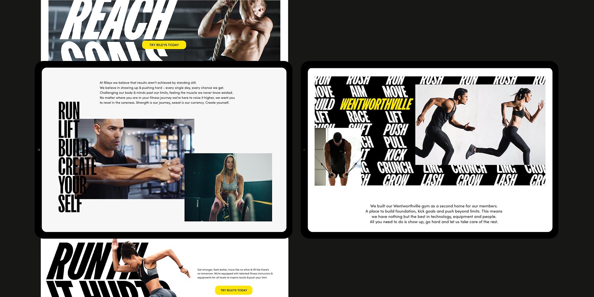 Brand identity design for Rileys Gym by Australian branding agency, Percept, image I