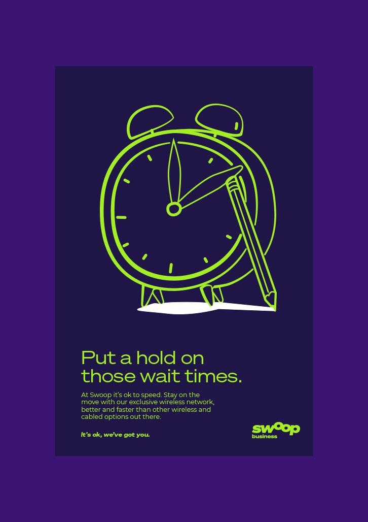 Brand Agency, Percept, create Brand Identity for Swoop, an Australian telco company, image H